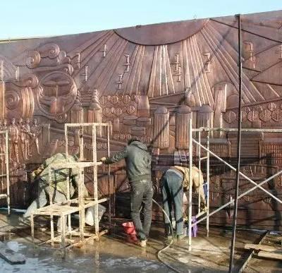 山水景观浮雕,玻璃钢树脂浮雕制作厂家,铸铜仿铜建宾雕塑
