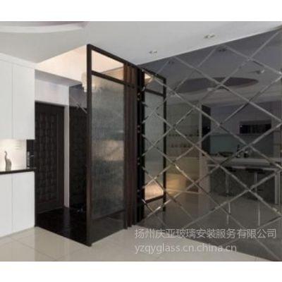 供应扬州玻璃装饰公司【庆亚】专业测量定制住宅、公寓、别墅工艺玻璃安装