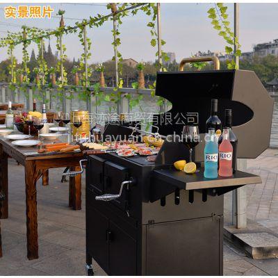 Mr.Tong花园生活豪华型庭院木炭烤炉大号加厚冷轧家炭烤炉
