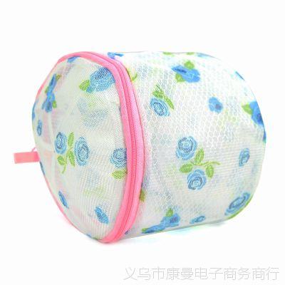 批发玫瑰花带支架文胸护洗袋 玫瑰花折叠式胸罩内衣护洗袋洗衣袋