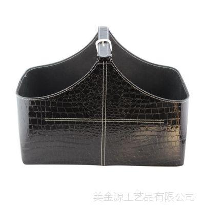 深圳酒店皮具用品厂生产销售皮革礼品篮节日送礼篮花篮皮质收纳篮