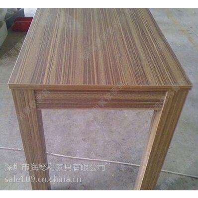 复古餐厅铁艺实木桌 咖啡厅西餐厅长方形简易餐桌 漫咖啡餐厅指定用桌