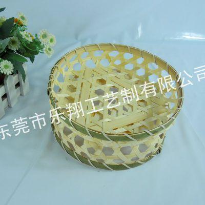 蒸年糕竹篓 装熟食竹筐 水产品包装竹篮