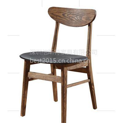 热销简约现代餐椅实木Y字椅,倍斯特定制