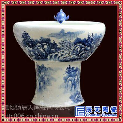 景德镇陶瓷喷泉定做 手绘礼品喷泉 喷泉价格