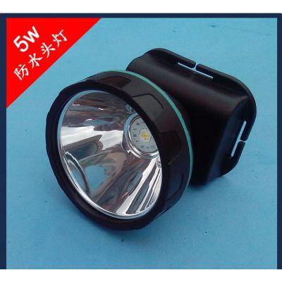 新款厂家批发车载充电头灯 5W聚光头灯 割胶头灯白光黄光强光弱光