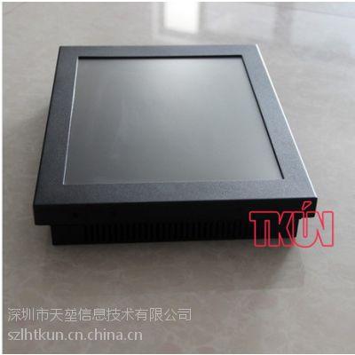 TKUN厂家直销12寸T121XGA机架式LED电阻触摸屏工业液晶显示器