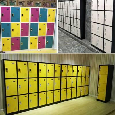 信阳24门IC卡游乐园 寄存柜价格 儿童乐园存包柜订做 高光糖果色