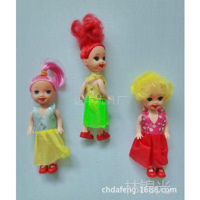 芭比芭芘娃娃赠品小凯莉/凯利娃娃3寸实身厂家直销混搭热卖