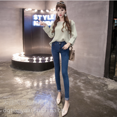 清仓亏本女式小脚铅笔裤批发时尚韩版牛仔裤尾货牛仔裤
