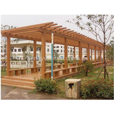 园林景观混凝土预制砼GRC水泥仿木桌椅、座椅、长廊、树围
