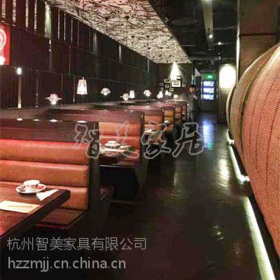 供应兰溪外婆家鲈鱼餐厅家具定做沙发满记甜品店定做实木桌椅智美家具