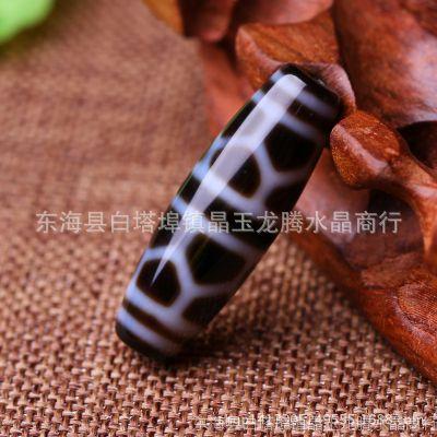 西藏天珠天然真品玉髓老矿-高纯龟甲长寿天珠佛珠