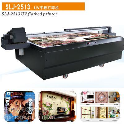 深龙杰3d浮雕瓷砖背景墙彩印机'''玻璃移门高清印花设备:2513UV平板打印机