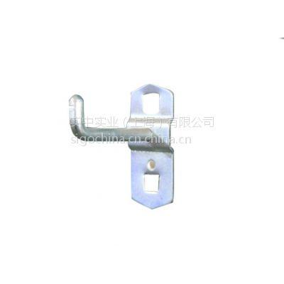 厂价供应方孔挂板用物料整理架金属电镀钢质吊钩单挂钩单直挂钩DFG-1406