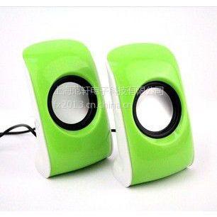 供应绿鹤迷你音响数字迷你音响电脑音响USB迷你音响