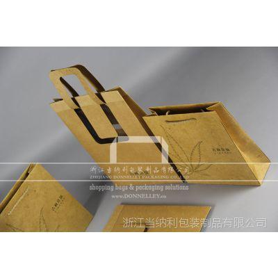 杭州创意服装购物袋,定做个性牛皮纸包装袋,定做款服装手提袋