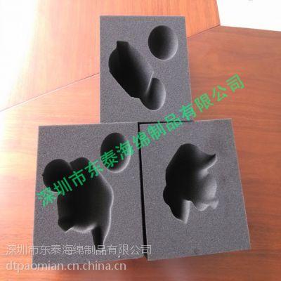 纯黑色电子海绵 高档炭黑电子海绵成型生产厂家