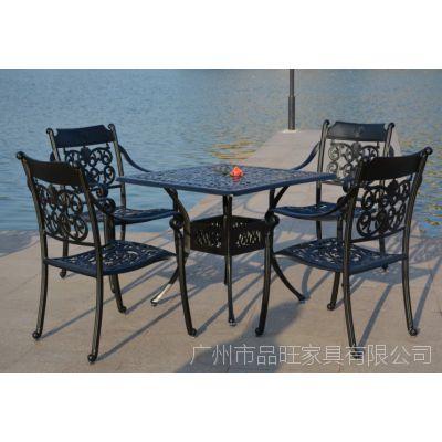 供应伊丽莎白铸铝套椅/全铸铝套椅/欧式铸铝桌椅