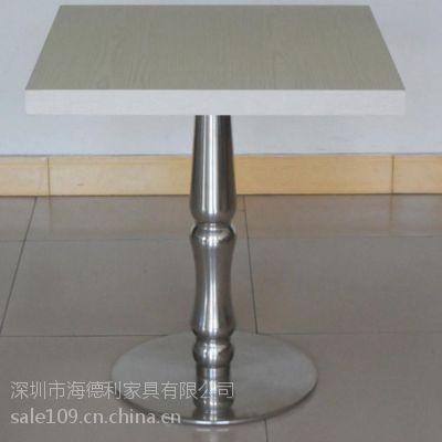 白色方形石英石西餐桌 高档酒店石英石西餐台 小方形白色大理石餐桌