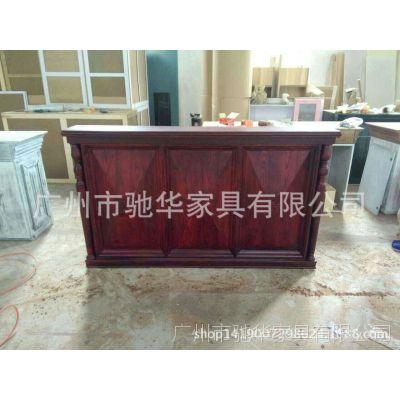 复古收银台木质做旧吧台桌 服装店铺道具百搭柜台 接待收款台现货
