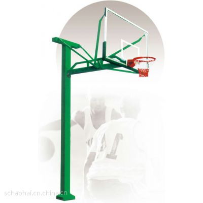 供应地埋式T型单臂篮球架—浩海体育