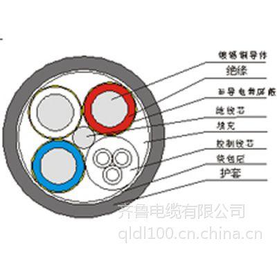 采煤机屏蔽橡套软电缆MCP-3.3-5 MCP 国标 齐鲁电缆镀锡铜线