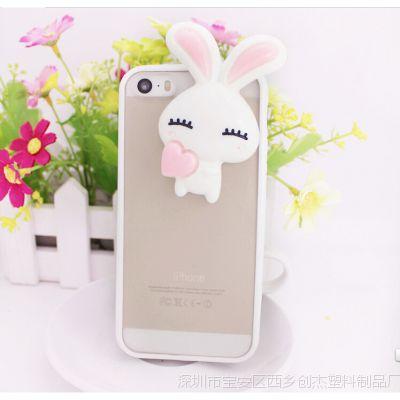 厂家直销 iPhone6可爱眯眼兔手机壳 5s苹果保护套 批发