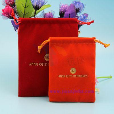 深圳厂家定制品牌电子产品包装绒布束口袋 广告促销绒布袋 束口