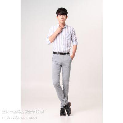 2015春夏款 简约典雅时尚休闲裤个性随意修身有型酷派 休闲长裤