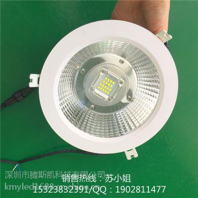 0-10V时控调光LED筒灯 50W 60W 80W 100W 大功率调光COB筒灯