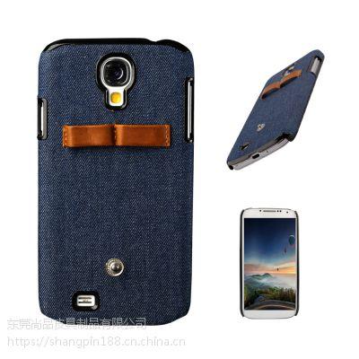 三星手机壳定制 简约牛仔布后盖式手机套数码配件 OEM厂家来图定制数码产品保护套