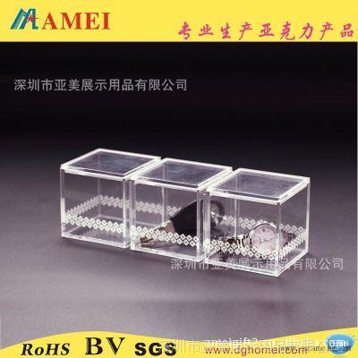 东莞工厂加工定做激光镭射LOGO压克力盒子 连排透明压克力盒子