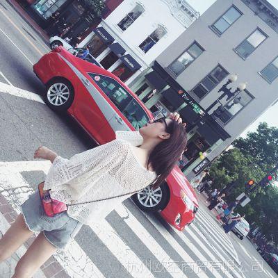 【YESWOMEN】小宜定制春夏女装新款 镂空圆领针织空调衫