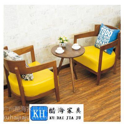 酷海家具深圳订购简约现代实木茶餐厅餐桌椅优质耐磨