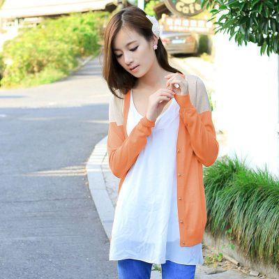 供应2013春款女装 针织衫女小开衫韩版针织衫打底衫女长袖外套