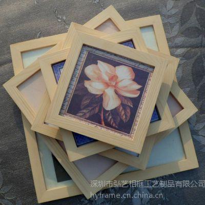 广东相框厂 生产定制实木 正方形7寸8寸10.12.16.20.24寸相框
