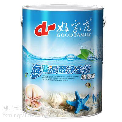 好家庭海藻泥净醛全效墙面漆5L环保净味抗污防霉装修室内墙面漆油漆