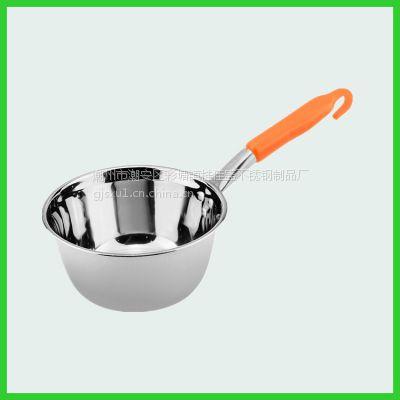 桂佳盛加厚不锈钢韩式水勺厨房水瓢塑料柄家用水勺无磁汤勺