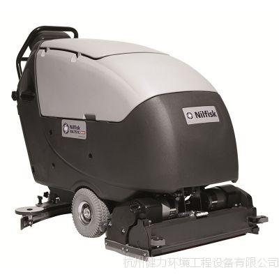 力奇先进BA651全自动洗地吸干机 手推式洗地机 进口双刷洗地机