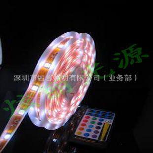 热销温馨LED 5050灯条SMD 60灯KTV 酒吧柔性软灯带 5050七彩/RGB 高亮