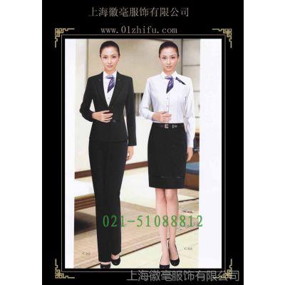 供应夏季职业裙套装女西装套装行政服装酒店工作服空姐制服定做