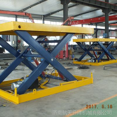 威海固定电动剪叉式液压升降机厂家 物流卸货平台 工厂简易厂房货梯