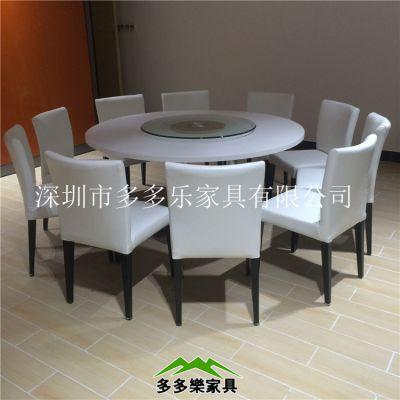供应单双人大理石餐桌 桌椅配套 优质人造石高档桌 餐厅桌