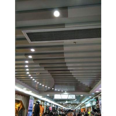 地鐵吊頂白色鋁格柵天花,U型鋁方通吊頂廠家