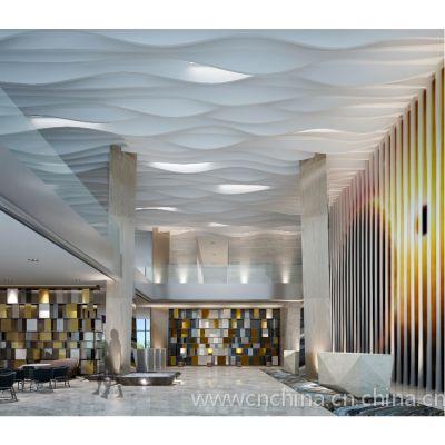 電影院弧形鋁格柵裝飾吊頂@造型鋁方通室內鋁天花?