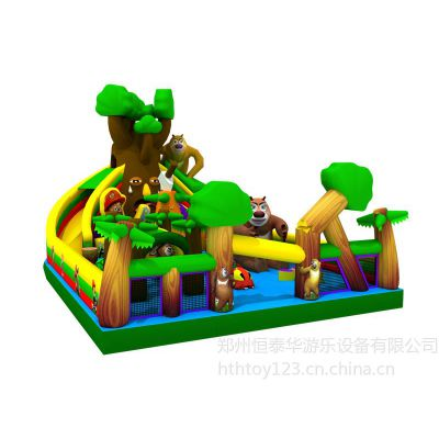 供应四川熊出没大滑梯、哪有充气城堡厂家?