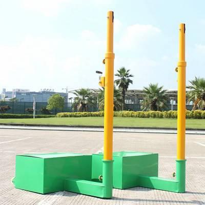 多功能网球柱 排羽网通用球柱 可移动 自行调节高度 河北利伟体育