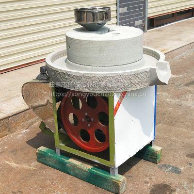 匀速小型电动石磨机天然石磨芝麻酱机热销款豆浆石磨特价