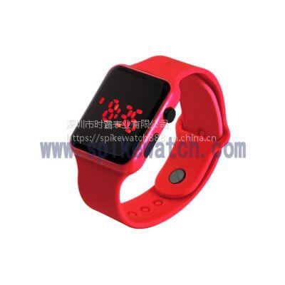速卖通火爆热销SPIKE时尚简约苹果方形LED电子手表质量可靠